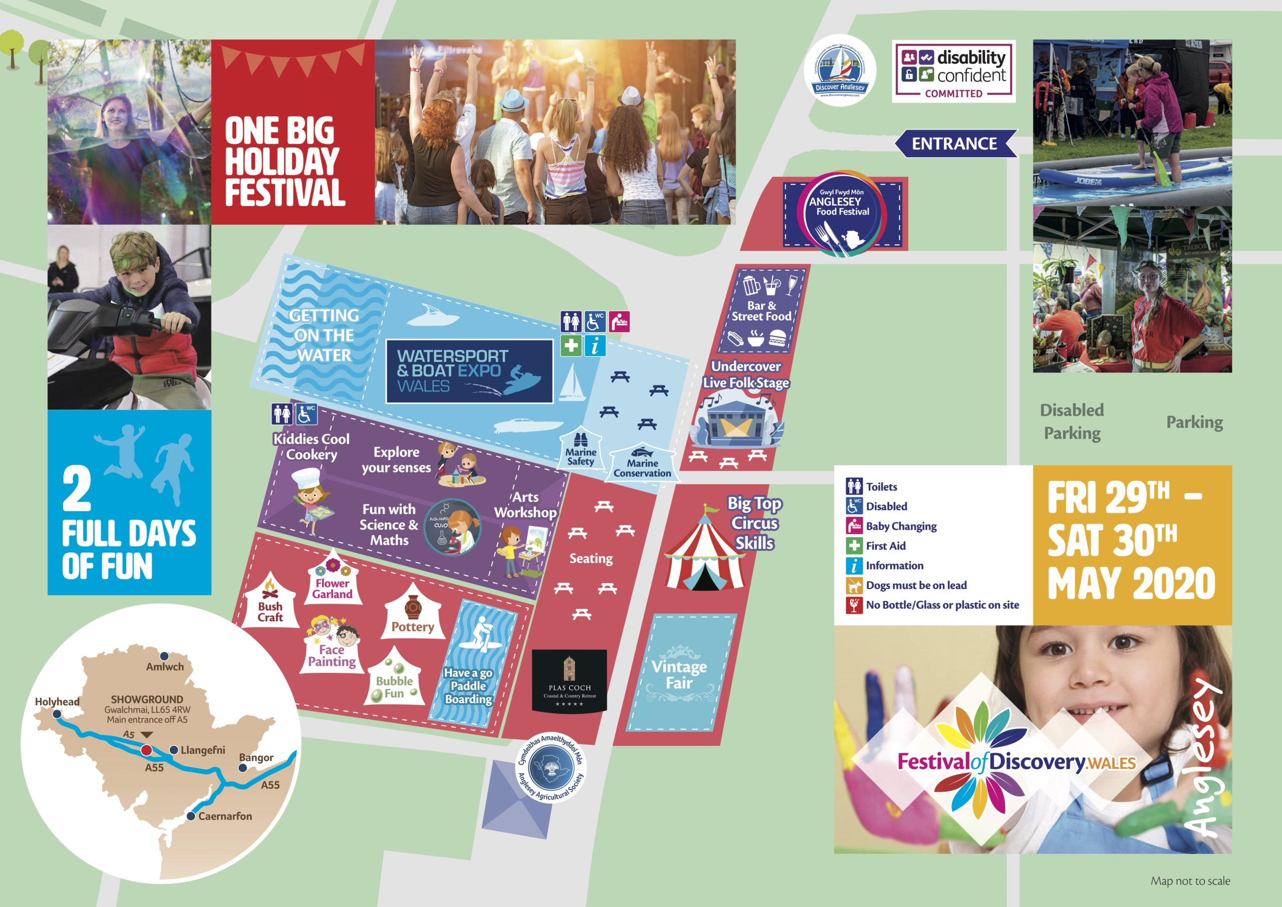 Festival of discovery site map